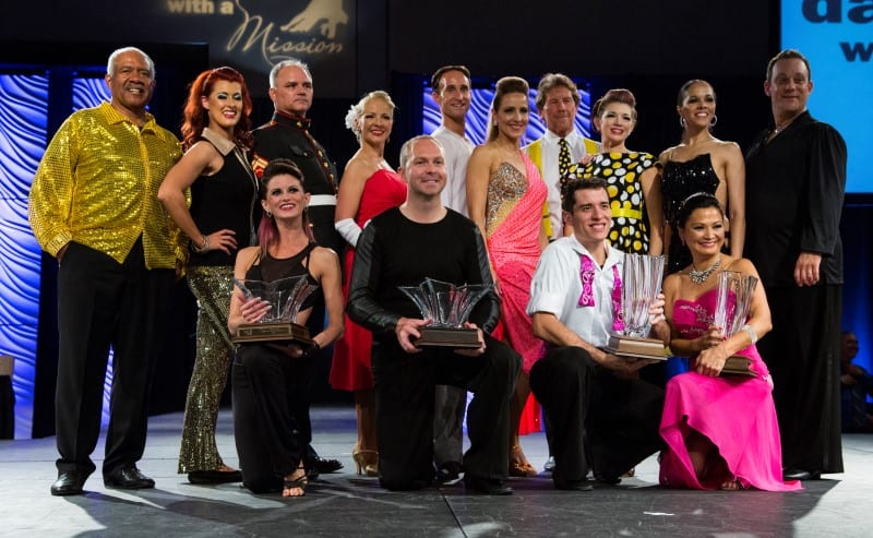 Dancers Pictured with Winners in Front